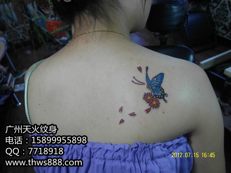 蝴蝶纹身001 - 纹身,广州纹身