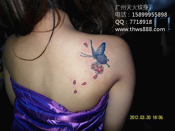 广州纹身 蝴蝶纹身001
